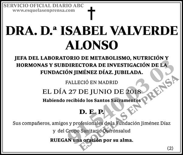 D.ª Isabel Valverde Alonso